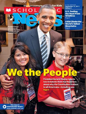 Scholastic Kid Reporters with President Obama