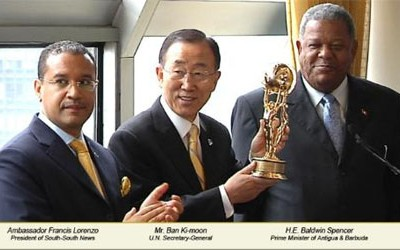 UN Secretary-General Ban Ki-moon Honored