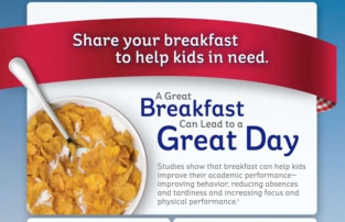 Share Your Breakfast to Fight Childhood Hunger