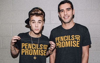 Justin Bieber Goes with Pencils of Promise