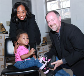 Toyota Donates Boots to Homeless Children