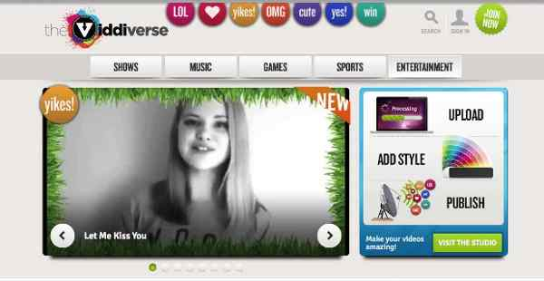 Viddiverse Online Video Network for Kids