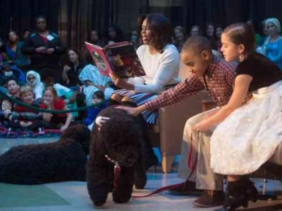 First Lady Michelle Obama Celebrates the Holidays with Children