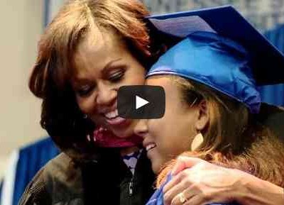 First Lady Michelle Obama Says Reach Higher