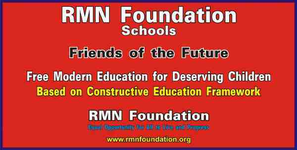 RMN Foundation Free Schools for Deserving Children