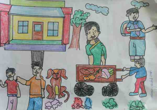 Clean India: Illustration by 11-year-old Ankit