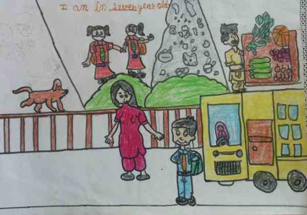 Clean India: Illustration by 7-year-old Imrana