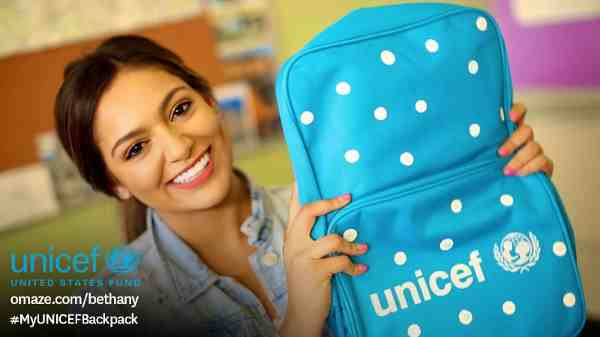 YouTube Star Bethany Mota Helps Kids Go Back to School
