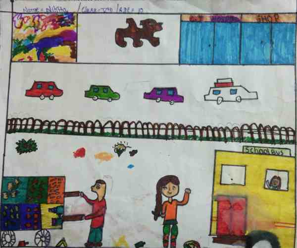 Clean India: Illustration by 10-year-old Nikita