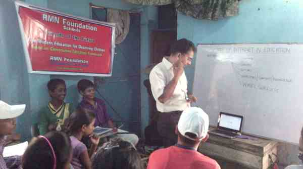 A Computer Education Session in Progress at the RMN Foundation School
