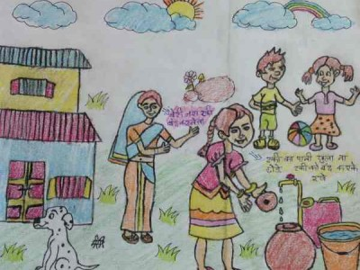RMN Foundation School Students Depict Dengue with Drawings
