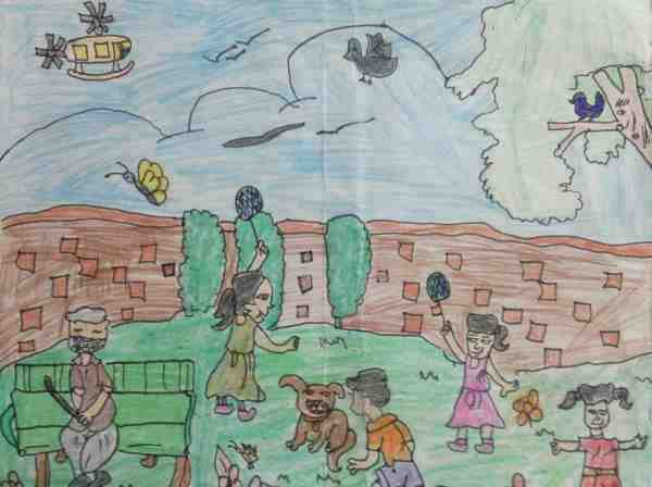 Drawing by 8-year-old Imrana