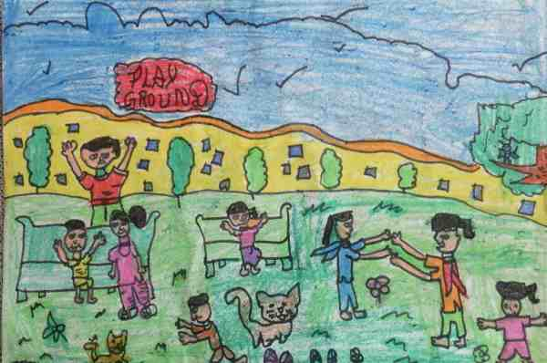 Drawing by 8-year-old Vandana