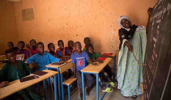 Children at school in Mali. Photo: UNICEF / Harandane Dicko