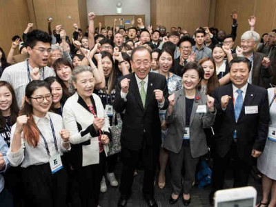 UN Chief Ban Ki-moon Urges Youth to Raise their Voices