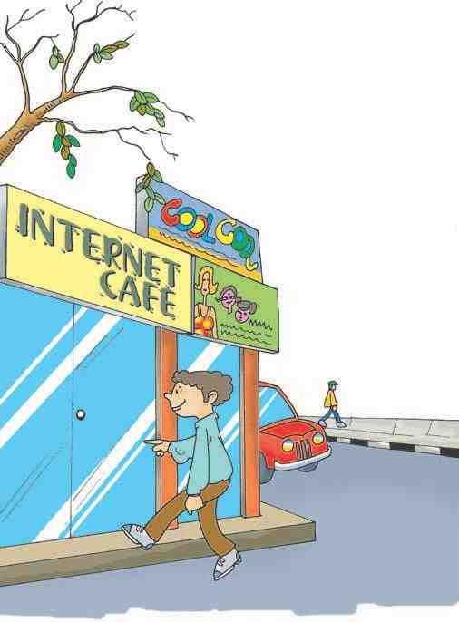 Chat with a Difference: Ravi near an Internet shop