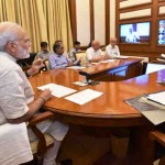 Narendra Modi chairing fourteenth interaction through PRAGATI - the ICT-based, multi-modal platform for Pro-Active Governance and Timely Implementation, in New Delhi on August 24, 2016