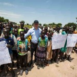 On 17 August 2016 in Bentiu, in Unity State, South Sudan, UNICEF Deputy Executive Director Justin Forsyth visits Machacos Primary School.
