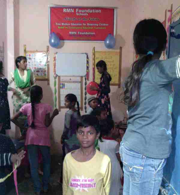 Children Decorating the RMN Foundation School