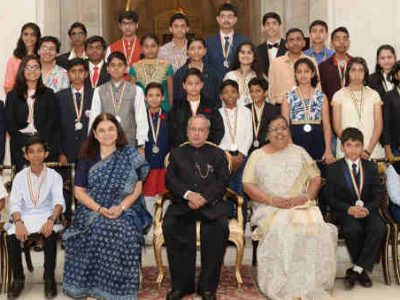 Children in India Honored for Their Achievements