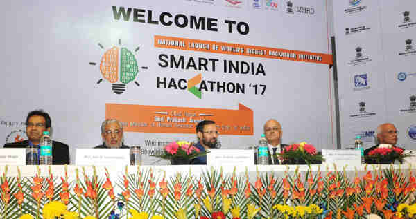 "Prakash Javadekar at the launch of ""Smart India Hackathon 2017"" in New Delhi on November 09, 2016"