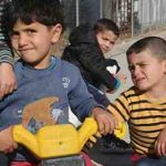 On 16 January 2017, boys racing their tricycles in Nizip 1 refugee camp, Gaziantep, southern Turkey. Nizip 1 camp is home to over 10,000 Syrian refugees, including more than 5,000 children. Photo: UNICEF
