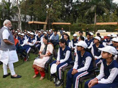 Narendra Modi Meets Youth and Children from Jammu and Kashmir