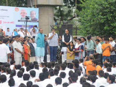 5000 Youth from Delhi Participate in Slum Yuva Daud