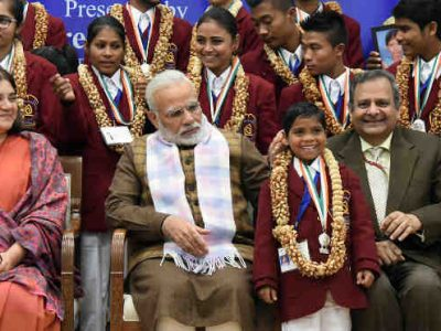 PM Modi Presents National Bravery Awards to Children