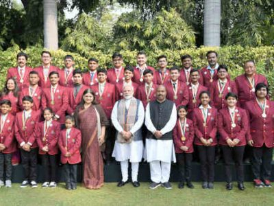 PM Modi Meets the Winners of Rashtriya Bal Puraskar 2019