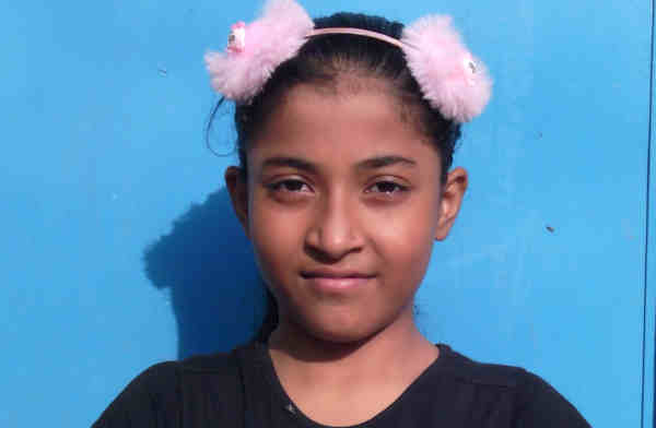 Imrana (pictured above) is a 12-year-old girl student who has been studying at the RMN Foundation free school for deserving children in Dwarka, New Delhi